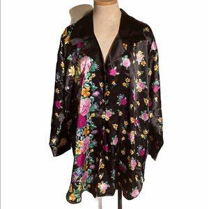Victoria's Secret Floral  Sleep Shirt Vintage Gold